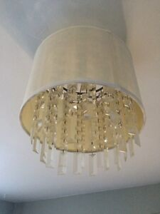 Semi-flush mount light fixture