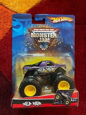 2007Hot Wheels Monster Jam Truck WILD HAIR #31 Metallic Purple NEW on CARD