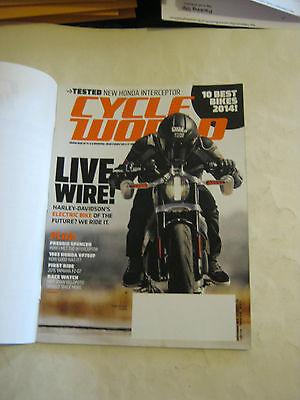 Septembe 2014 Cycle World Magazine - Harley-Davidson's Electric Bike (BD-26)