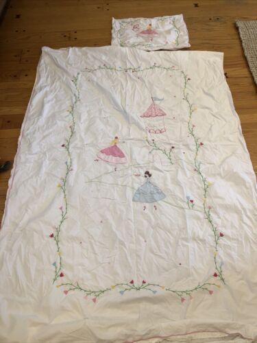 Pottery Barn Kids Princess Castle Twin Duvet Cover Pillow Case With E - $19.99