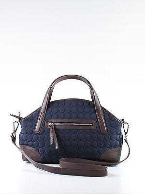 Vera Bradley Wildwood Park Navy Blue Microfiber Large Tote Shoulder Hand Bag ()