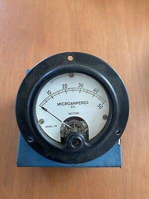 Weston Microamperes Dc Meter