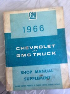 Shop manuel book 1960 to 1966 GM Truck