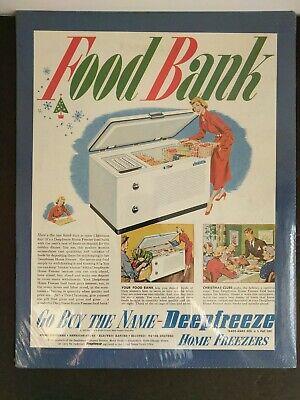 1950 Vintage Print Ad Deepfreeze Home Freezer Food Bank Illustration Mid Century