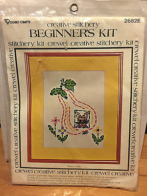 Vogart Crafts Beginner's Stitchery 2682E Rabbit in Pear Vtg 1977 Sewing 8 x 10
