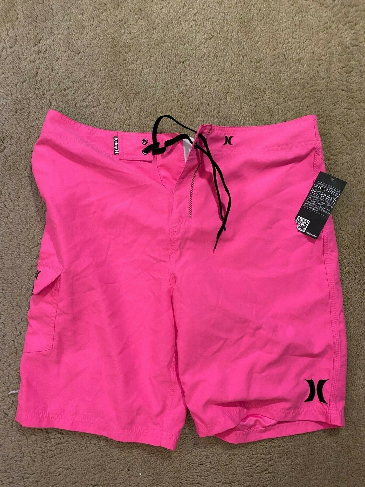 Hurley Board Shorts Pink Swim Suit Men's Size 36 NEW