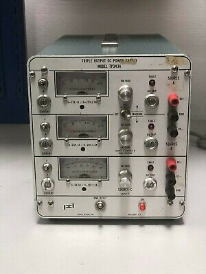 Pd Power Designs Model Tp343a Triple Output Dc Power Supply