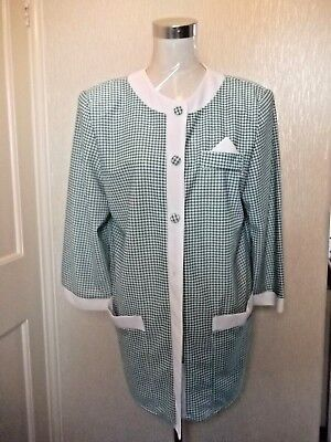 Vintage Ladies Check Check Summer Jacket and Matching Skirt