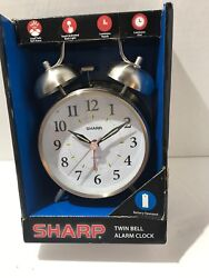 SHARP TWIN BELL TOUCH ACTIVATED BACK LIGHT LOUD ALARM CLOCK