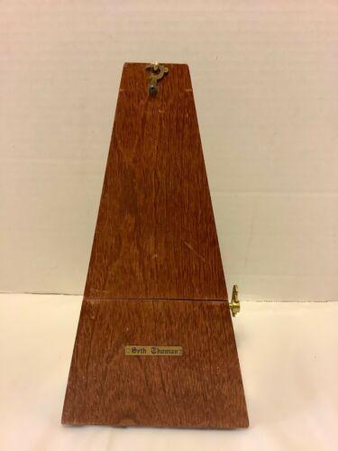 Seth Thomas Metronome  Number 7  Brass Vintage Wooden