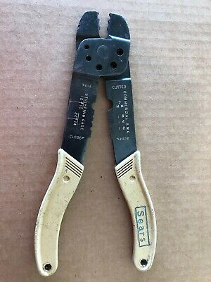 Sears Vintage Amp Incorporated Electrical Wire Stripper Crimper Cutter Tool Usa