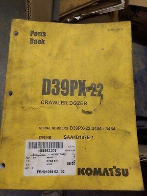 Komatsu D39px-22 Crawler Dozer Parts Book