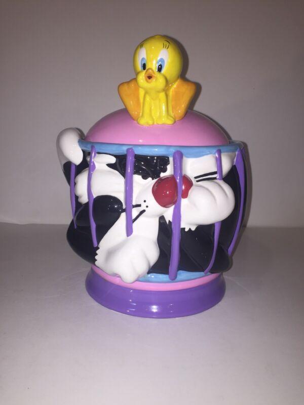 Sylvester And Tweety Ceramic Cookie Jar