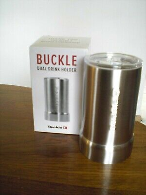 Buckle Dual Drink Holder Tumbler/Can holder NEW in BOX (Cup Holder Buckle)