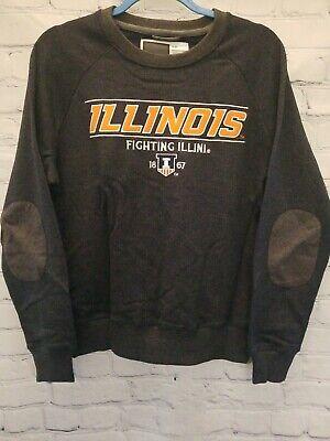 Illinois Fighting Illini NCAA Bruzer Oxford Crew Sweater Sweatshirt Women S NEW Fighting Illini Oxford