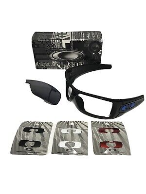 Oakley Batwolf Men's Sunglasses Black /w Extra Inserts.