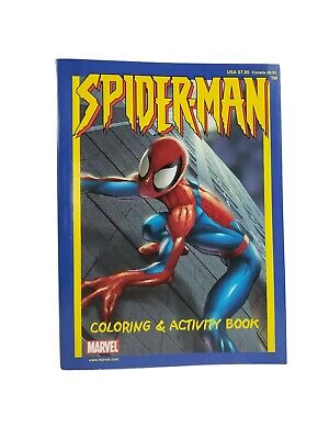 Super Heroes Coloring Pages (2002 Marvel Spider-Man 200 Pages of Coloring and Activity Book Collectible)