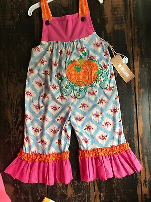 La Jenns Boutique Overall Cinderella Carriage Pumpkin Overall Outfit 4T for sale  Gordon