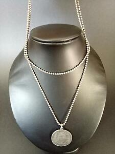 Silver coin pendant necklace Clarkson Wanneroo Area Preview