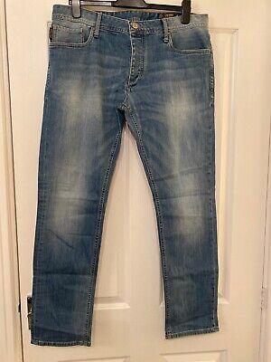 Mens Jack & Jones Originals Denim Blue Jeans
