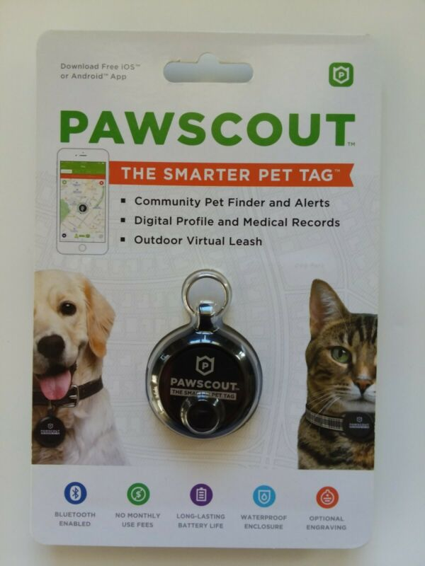 Pawscout Smarter Pet Tag: Dog & Cat Community Pet Tracker (Bluetooth, not GPS)