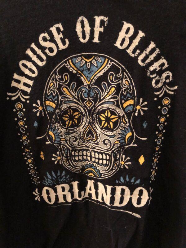 House Of Blue's Sugar Skull Orlando Men's  Medium Preowned T Shirt Z1