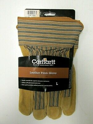 Carhartt Nwt Mens Leather Palm Safety Cuff Work Gloves Size Large