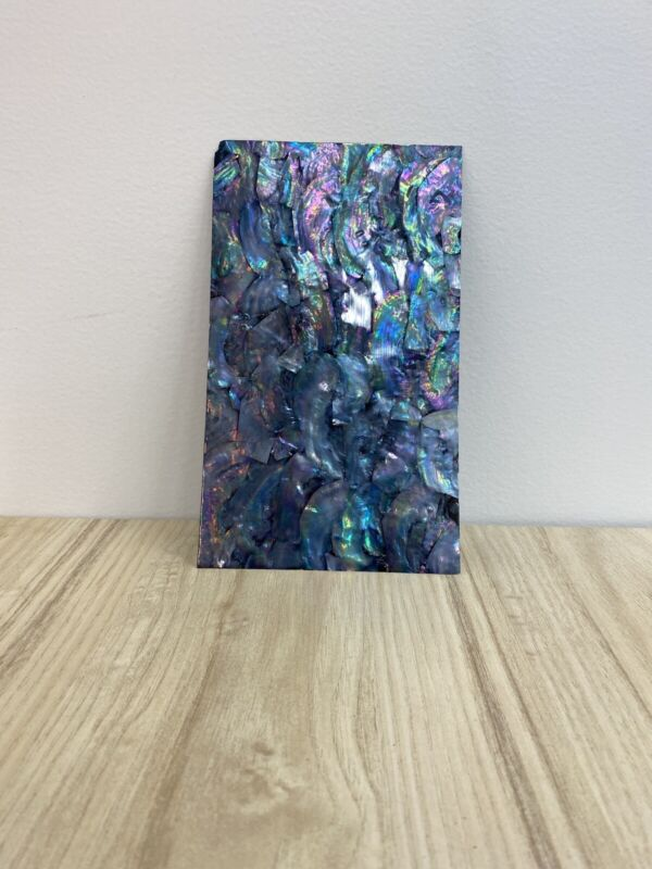"5.5""x 9.5"" Real Abalone Shell Veneer Sheet Mother of Pearl Iridescent Hologram"