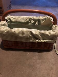Pottery Barn Diaper Caddy with liner