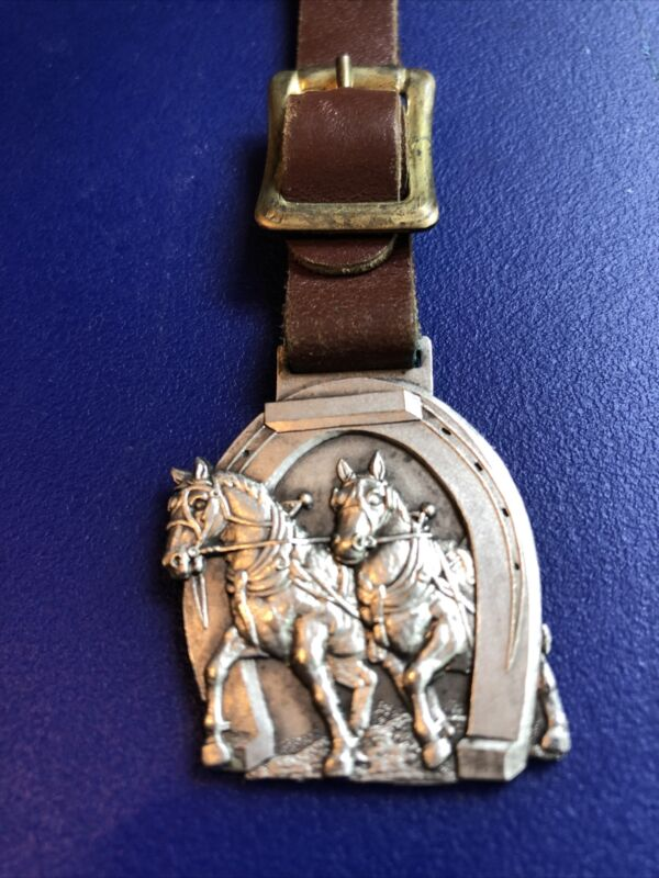 vintage antique pocket watch fob THE DRAFT HORSE JOURNAL-Extremely Rare