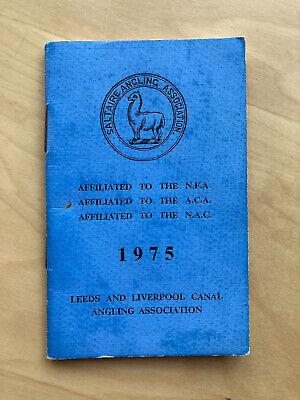 1975 Leeds & Liverpool Canal Angling Association Members Card Bradford Fishing.