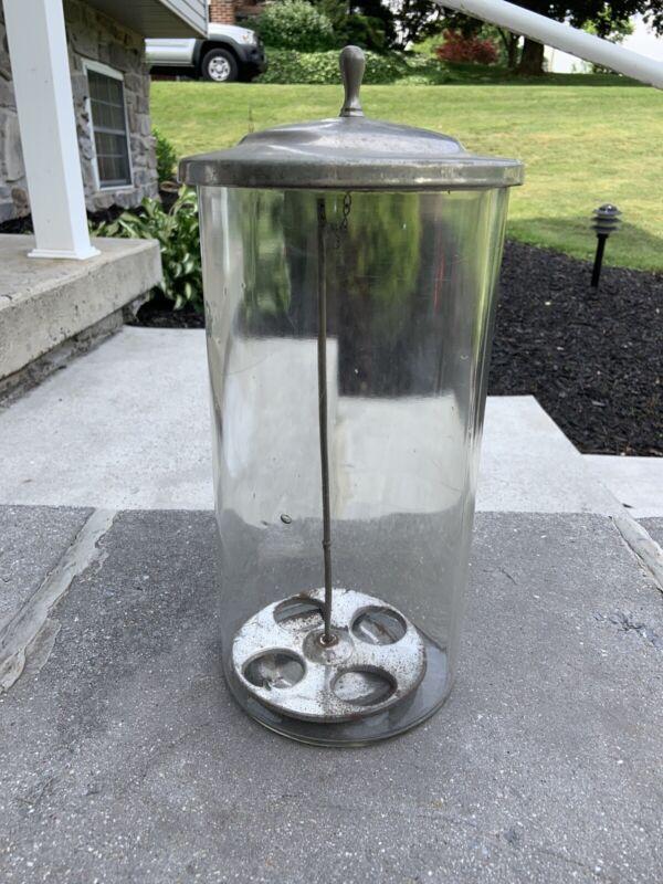 Antique Ice Cream Cone Glass Holder Dispenser Soda Fountain