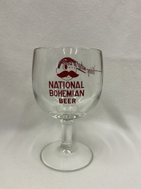 Vintage National Bohemian Natty Boh Beer Glass Goblet Large 14 Ounce