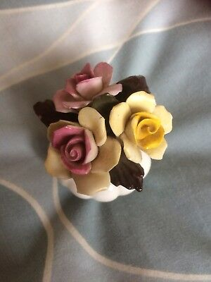 VIntage Collectible Stratford Bone China Bowl With China Flowers