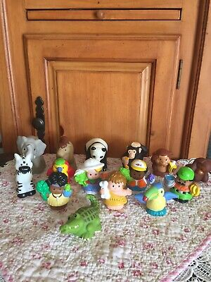 Fisher Price Little People SAFARI MOUNTAIN Lot + Zoo Jungle Animals Cave Man - Fisher Price Jungle Animals