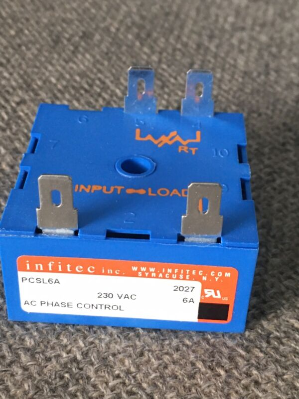 INFITEC PCSL6A AC PHASE CONTROL, NEW no box, 230VAC, 6 amp