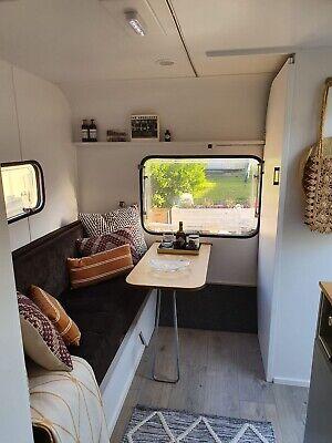 Vintage caravan retro classic restored Scandi office airbnb