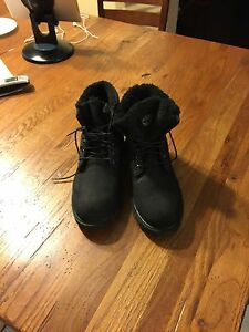 Boys Black Timberland Boots