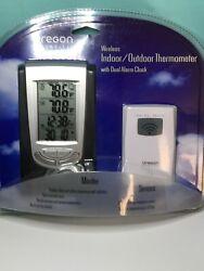 Oregon Scientific Wireless Indoor Outdoor Thermometer With Dual Alarm Clock