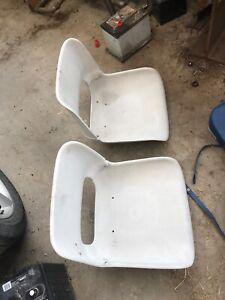 Folding boat seats