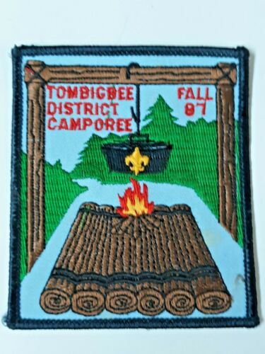 Vintage Boy Scouts patch  Tombigbee District Camporee  Fall 1987