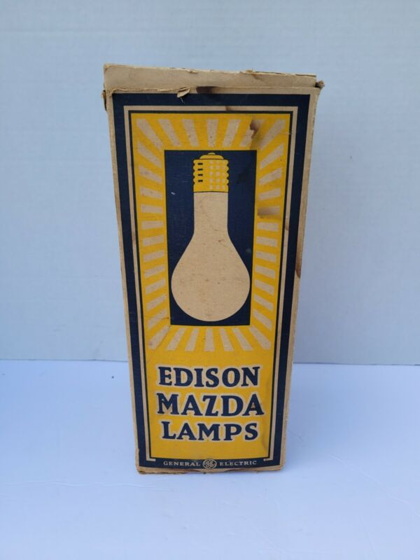 Vintage Nos General Electric Edison Mazda Lamp 300 Watts 115volts Ps-35 Mazda C