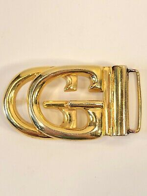 VINTAGE GUCCI GG BUCKLE GOLD TONE