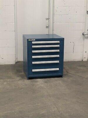 Used Stanley Vidmar 6 Drawer Cabinet 33 High Industrial Tool Storage 2204