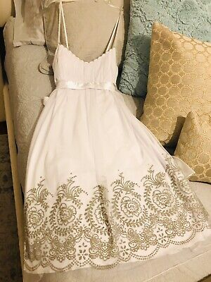 White Occasion Dresses (Teeze Me White Special Occasion Empire Waist Dress Solid Spring Easter - Jr)