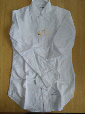 NWT Thom Browne White Oxford Cloth Button Down Collar TB1 MSRP $330