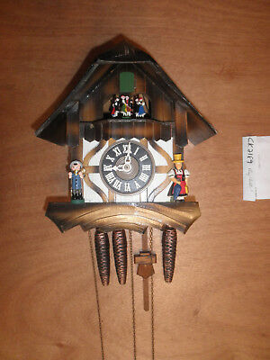 Cuckoo Clock 1 Day Chalet - Cuckoo Clock German Black Forest working SEE VIDEO Musical Chalet 1 Day CK2189