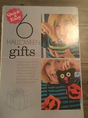 Quick & Easy 6 Halloween Gifts KNITTING PATTERN - Spider, Pumpkin Purse, Mittens - Easy Halloween Pumpkin Crafts