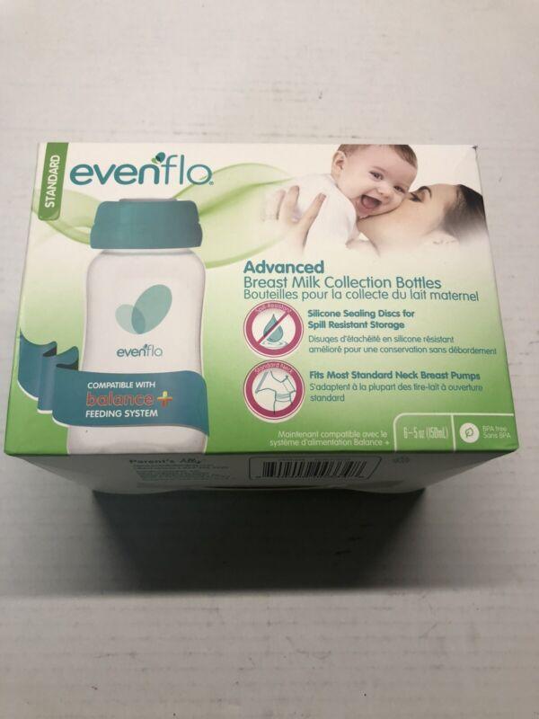 Evenflo Advanced Breast Milk Collection Bottles Open Box Standard Size