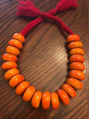 Moroccan Berber  Amber Necklace! Amber Resin Beads  NEW
